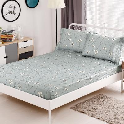 HOYACASA簡單愛 加大親膚極潤天絲床包枕套三件組