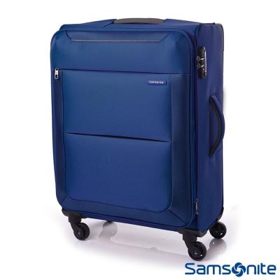 新秀麗-24吋Basal可擴充布面TSA行李箱-藍