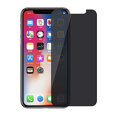 【SHOWHAN】iPhone X 5.8吋 防窺半版 9H鋼化玻璃保護貼