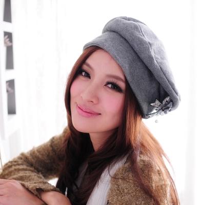 Aimee Toff 優雅投足精點裝飾造型帽(灰)