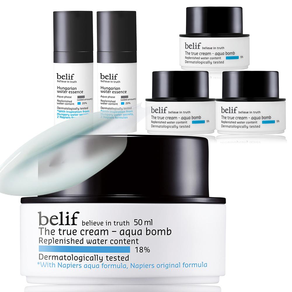 *belif (水球爆開般)買1送5★斗篷草高效水分炸彈霜六入組 維持美容與健康的神秘魔力