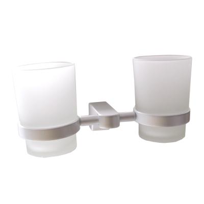 Homeicon 衛浴配件 太空鋁-雙杯架