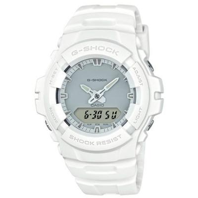 G-SHOCK 簡約時尚軍事風格風格設計運動錶(G-100CU-7A)白色-47.8mm