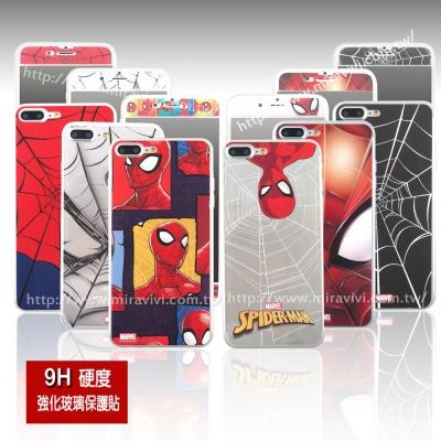 MARVEL蜘蛛人經典版iPhone 7 Plus雙面強化玻璃保護貼