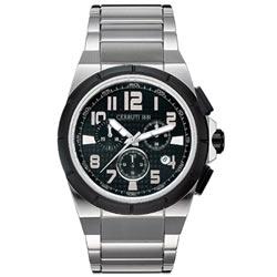 CERRUTI 1881 運動玩家計時腕錶(黑)