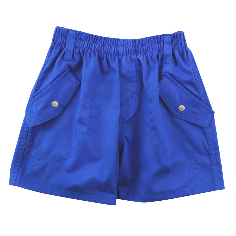 愛的世界 SUPERMINI 純棉鬆緊帶釘釦後口袋短褲/2~4歲