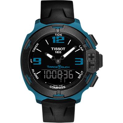TISSOT T-RACE鋁合金多功能觸控錶(T0814209705704)-藍/42mm
