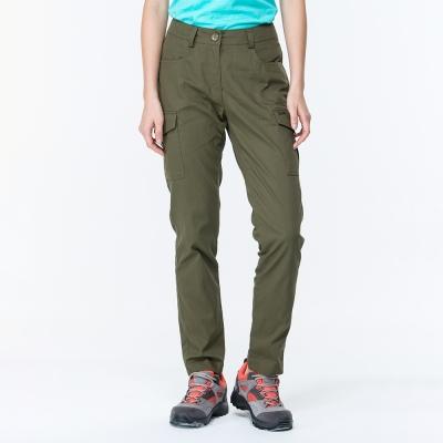 【ATUNAS 歐都納】女款驅蚊/防曬/都會窄管休閒長褲A-PA1708W深棕綠