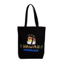 Sanrio 蛋黃哥美國版夏威夷系列帆布手提袋(夏威夷飯糰黑)