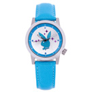 PLAYBOY 繽紛亮片時尚錶 水藍色帶+銀框/35mm