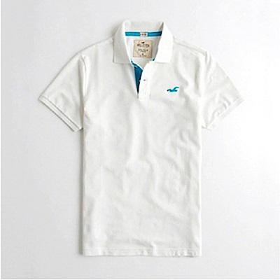 HCO Hollister 海鷗 經典刺繡標誌短袖Polo衫-白色