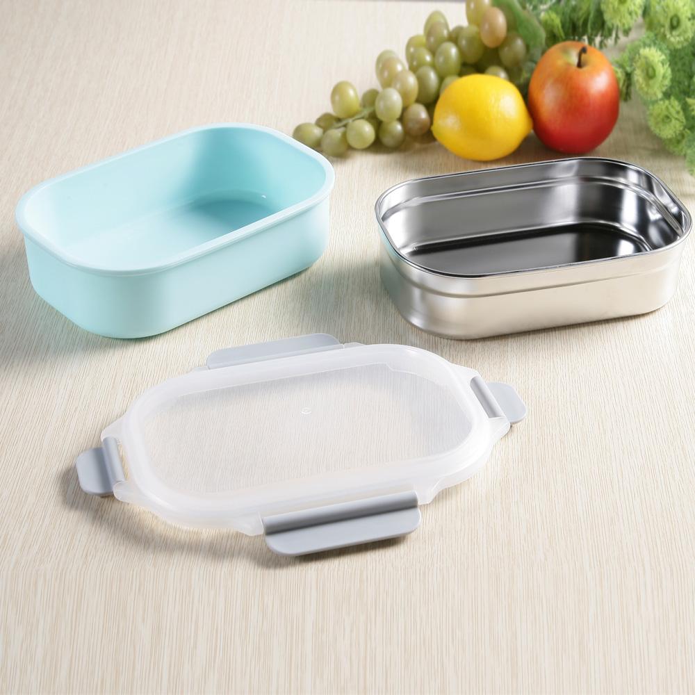 創意達人xUdlife藏鮮第二代方形保鮮隔熱環保餐盒1入組