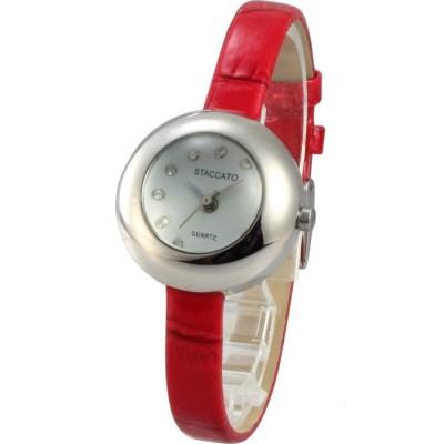 STACCATO 童趣泡泡時尚氣質腕錶-銀/28mm
