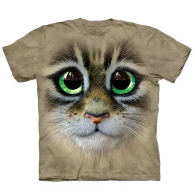 摩達客 美國進口The Mountain大眼貓臉純棉短袖T恤