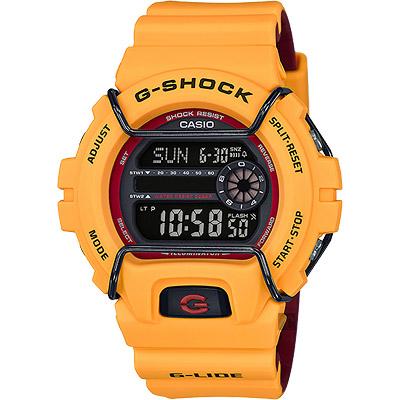 CASIO 卡西歐 G-SHOCK 抗寒極限腕錶-黃/53mm
