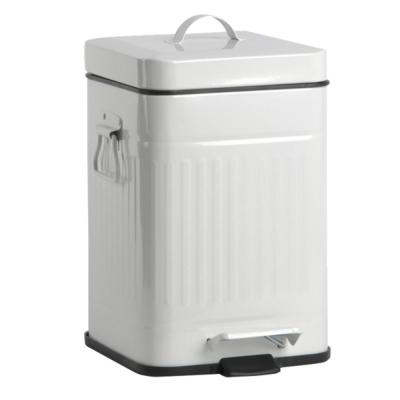 PUSH!居家生活 colourful液壓自動緩降垃圾桶12升 (米白色I13)
