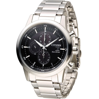 CITIZEN 星辰 極速豪傑光動能計時腕錶(CA0610-52E)-黑/43mm