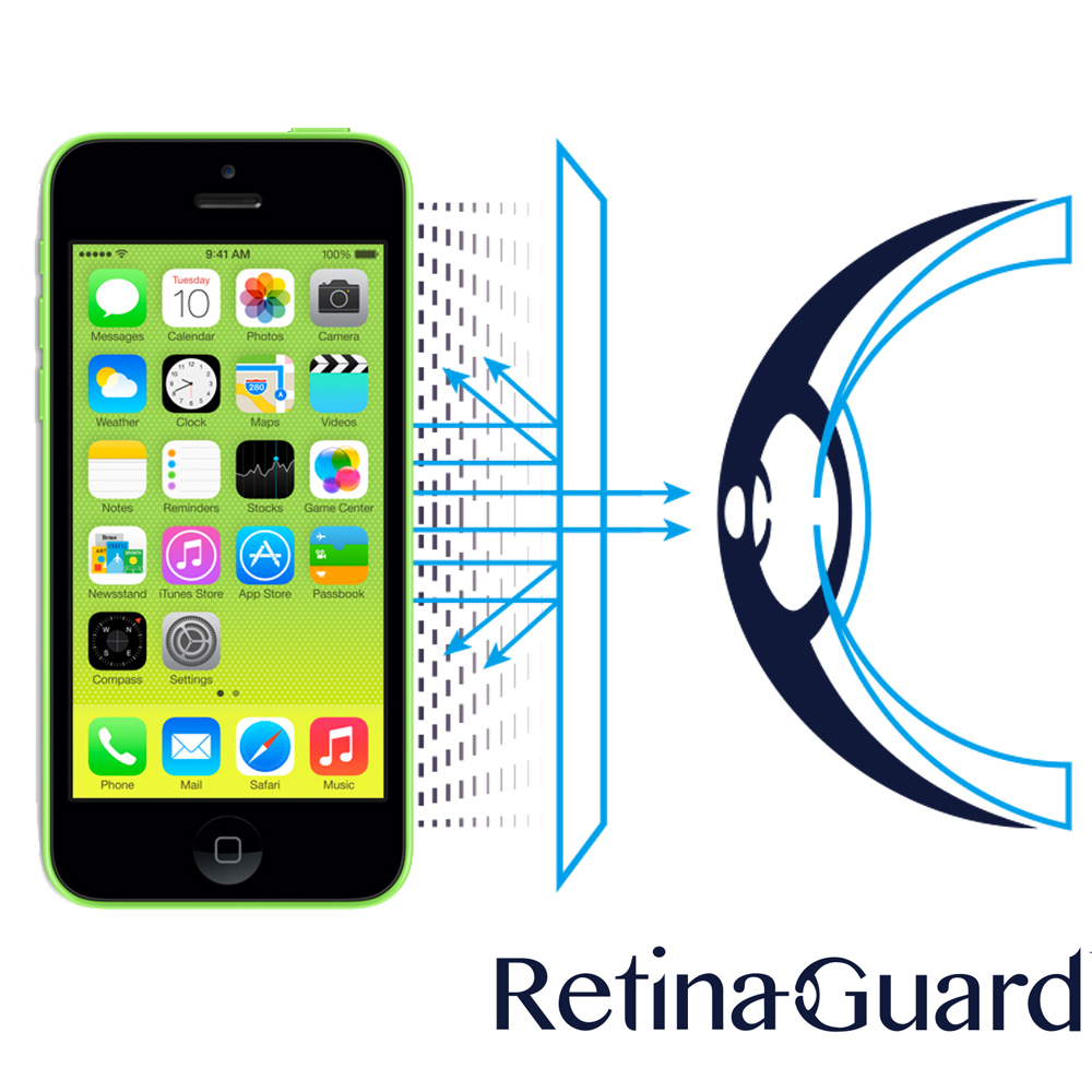 RetinaGuard 視網盾 iPhone5C 眼睛防護 防藍光保護膜