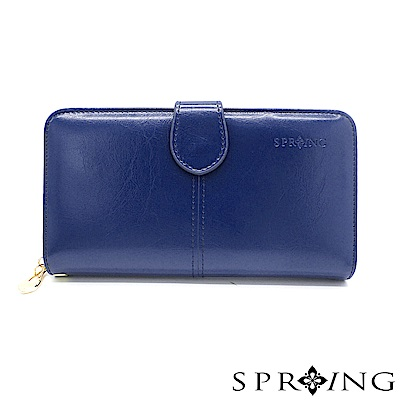 SPRING-奢華秘境名媛長夾-極致藍