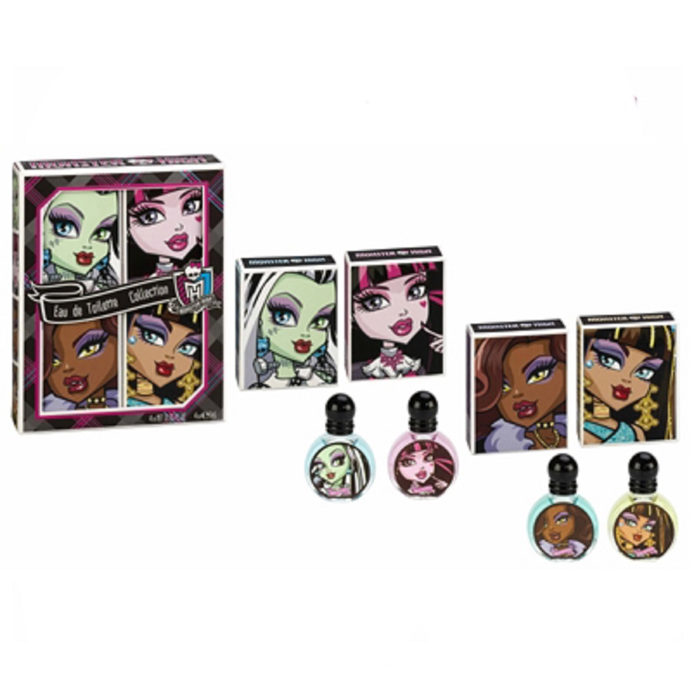 Monster High 怪物高校精靈 小香禮盒4入組 【贈】迪士尼噴霧隨機款*1
