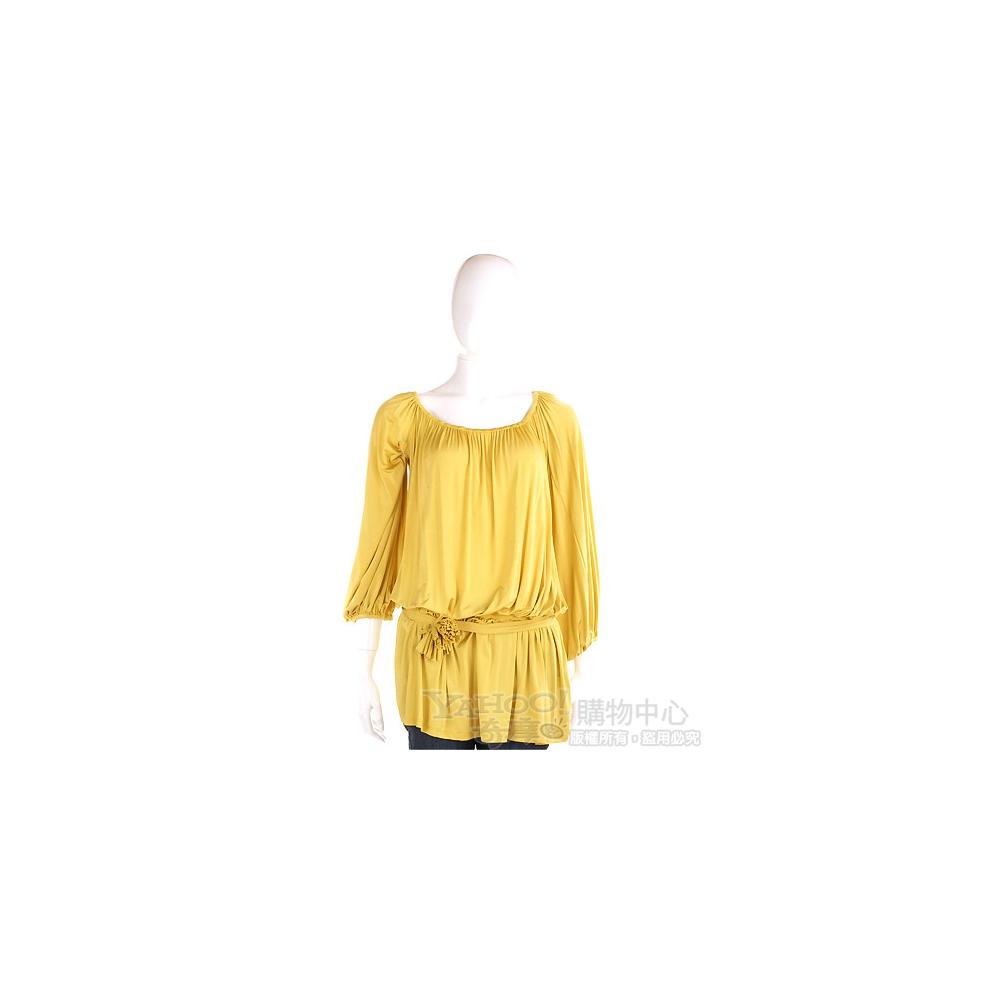 PAOLA FRANI 黃色七分袖上衣(附腰帶)
