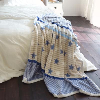 絲薇諾 天空軟糖 145×200cm法蘭絨毯包邊四季毯
