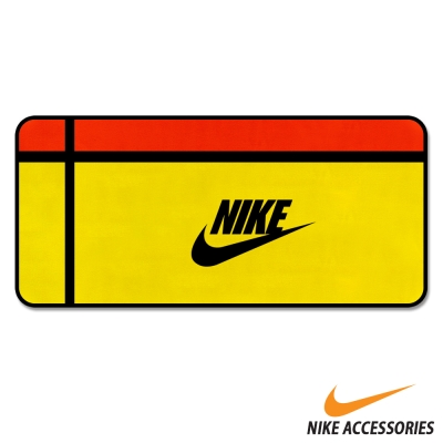 NIKE 圖案大毛巾(黃/黑/紅款) - 快速到貨