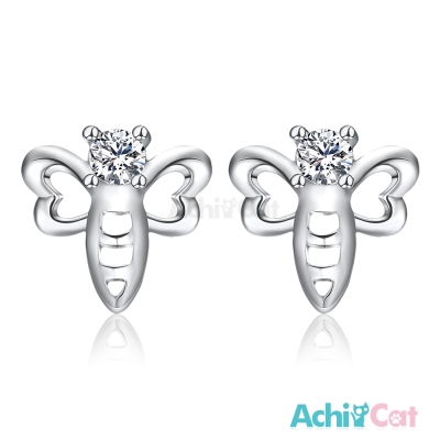 AchiCat 925純銀耳環 俏皮蜻蜓 純銀耳針