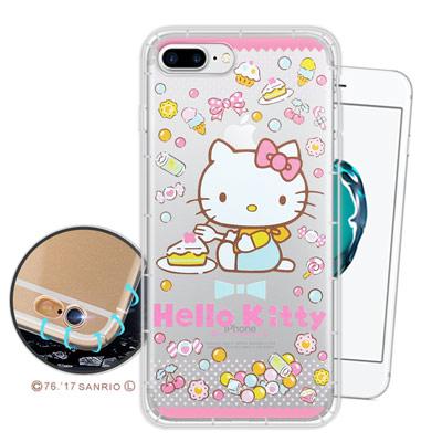三麗鷗授權 凱蒂貓 iPhone 8 Plus/ 7 Plus 空壓氣墊手機殼(...