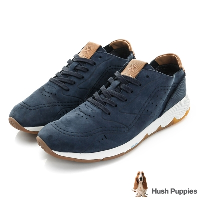 Hush Puppies GARRY 復古運動健走鞋-深藍