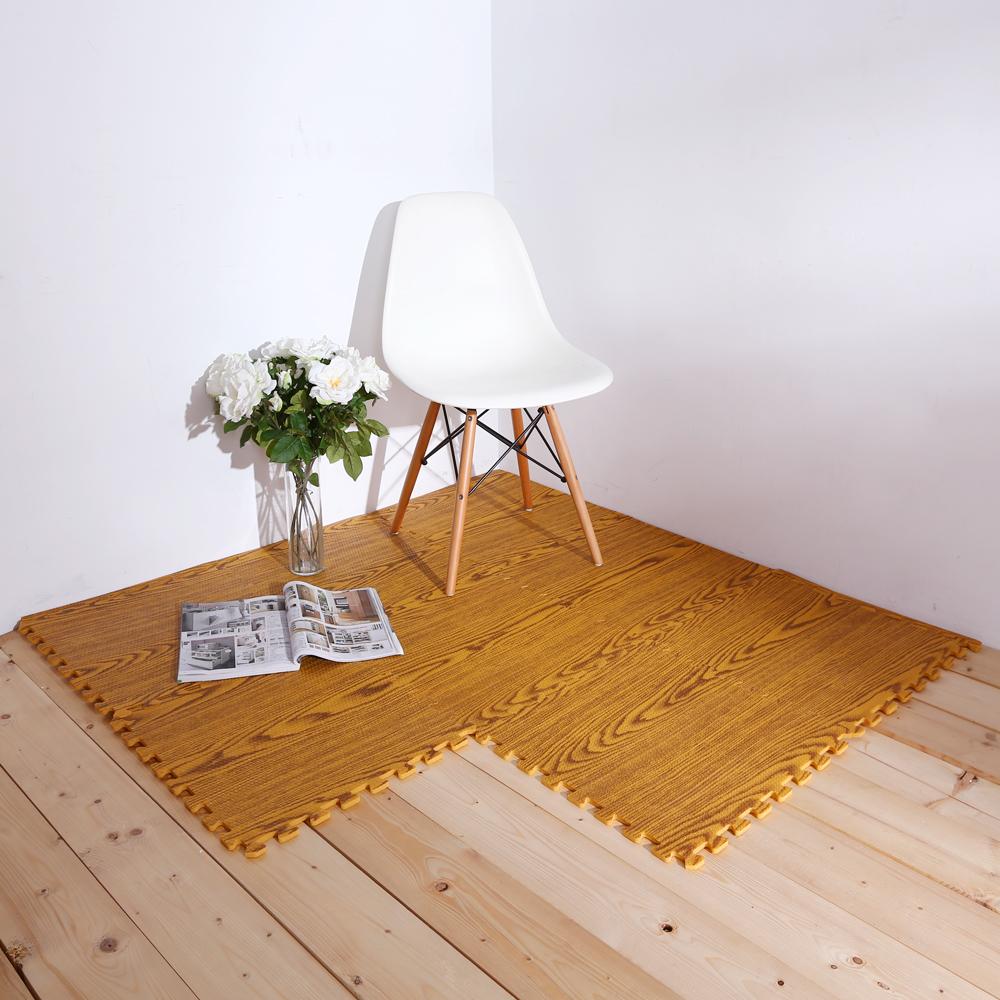 E&J-環保木紋圖樣巧拼地墊(96片)45*45cm