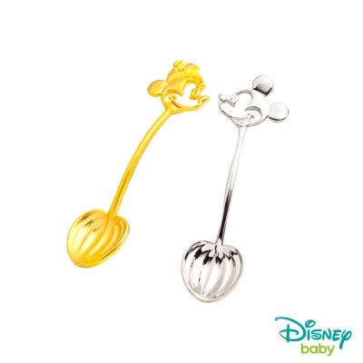 Disney迪士尼系列金飾 黃金/純銀湯匙木盒套組B-米奇+美妮款