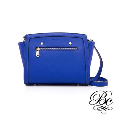 BELLUCY 時尚優雅微笑側背包(寶石藍)
