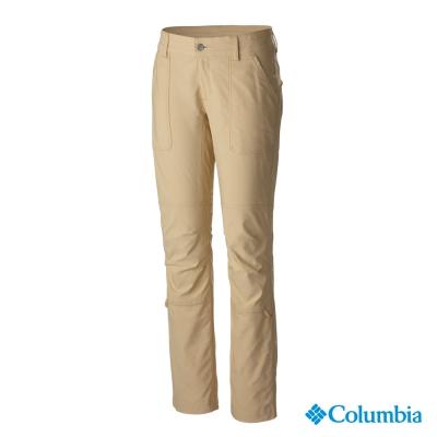 【美國Columbia哥倫比亞】防曬50快排長褲-女-起司黃(UAL87680CD)