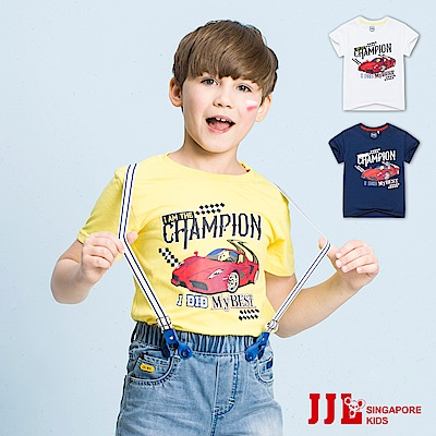 JJLKIDS 帥氣跑車舒適短袖純棉上衣T恤(3色)