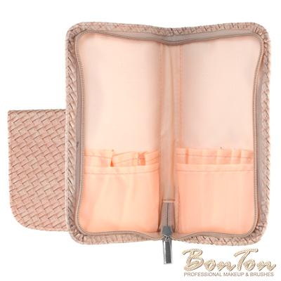BonTon 9支淡粉皮革編織刷具包