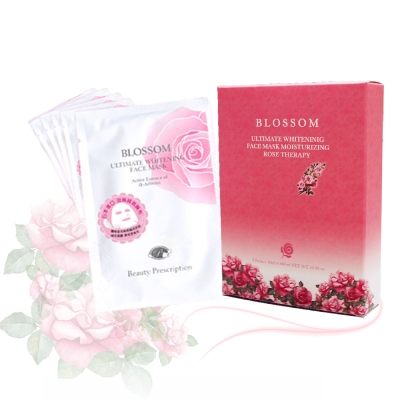 BLOSSOM 玫瑰5D淨白保濕羽絲絨煥采面膜30ML(5片/盒) @ Y!購物