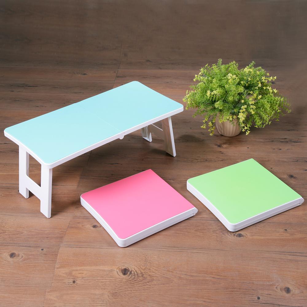 創意達人馬卡龍123快速收折疊桌(2入)