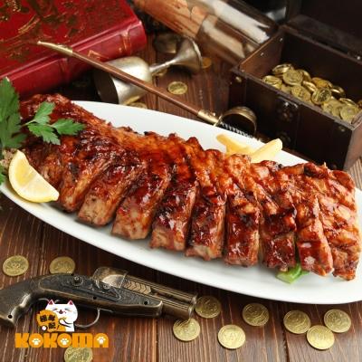 極鮮配 美式碳烤豬肋排 (650g±50%)