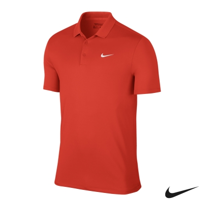 NIKE VICTORY SOLID LC POLO 衫 男-紅