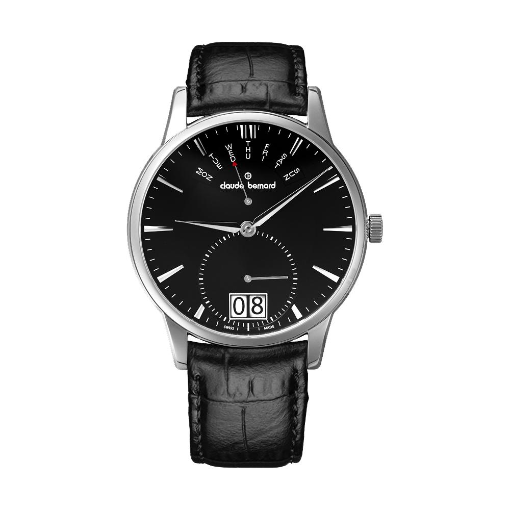 Claude Bernard Classic Gents 大視窗日期腕錶-黑/40mm