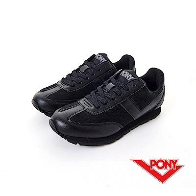 【PONY】PONY-SOHO-U系列-復古慢跑鞋-黑-女