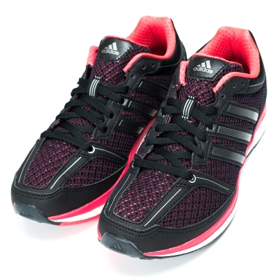 ADIDAS-MANA RC BOUNCE女慢跑鞋-黑粉