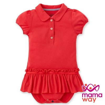 Mamaway Baby POLO裙擺抽皺包屁衣(共四色)