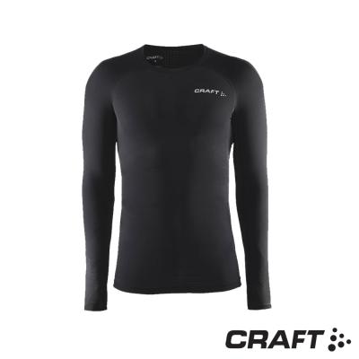 【瑞典 Craft】男款 DELTA 專業級壓縮長袖上衣_黑