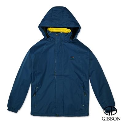 GIBBON 外套防風抗水刷毛休旅款‧午夜藍