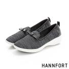 HANNFORT H-COMF五密度編織甜美樂福鞋-女-自信黑