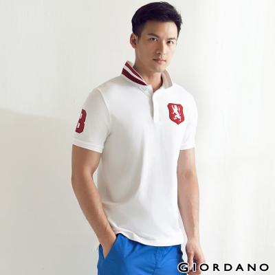 GIORDANO-男裝勝利獅王盾牌POLO衫-01