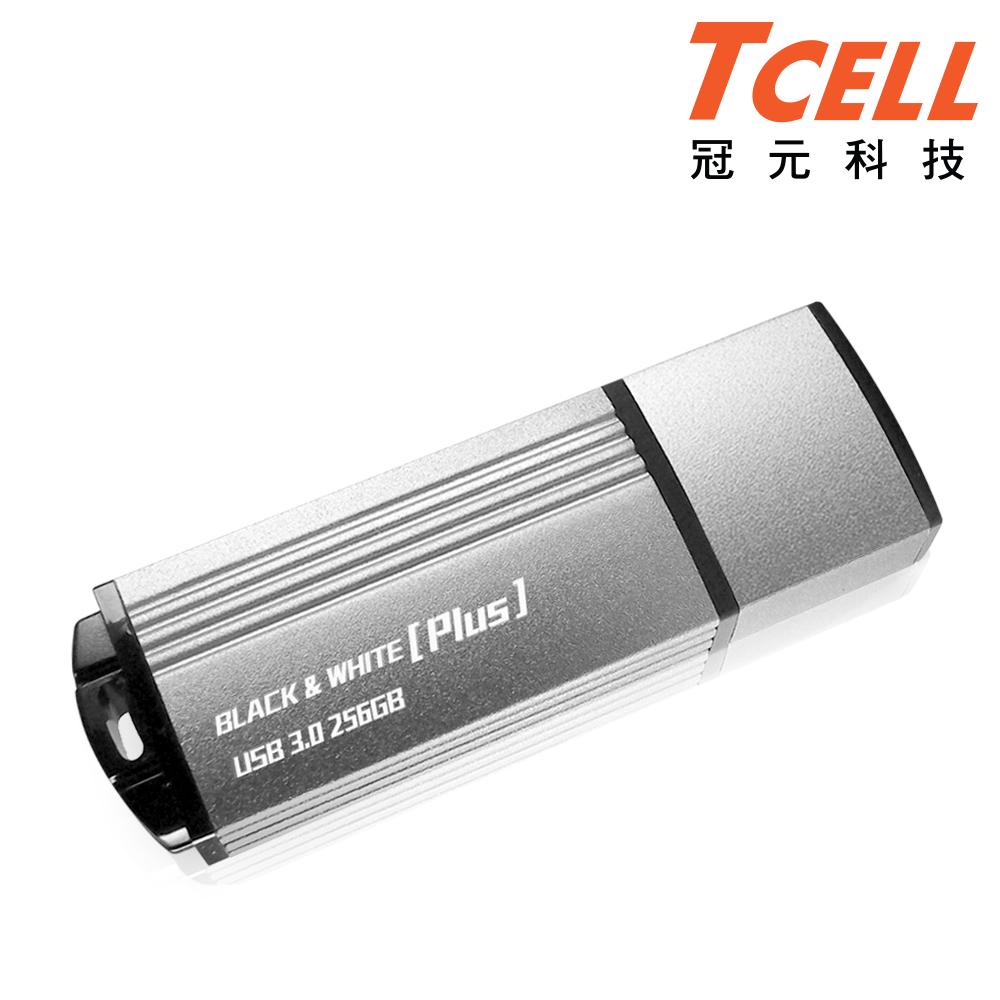 TCELL 冠元-USB3.0 256GB BLACK & WHITE Plus 隨身碟