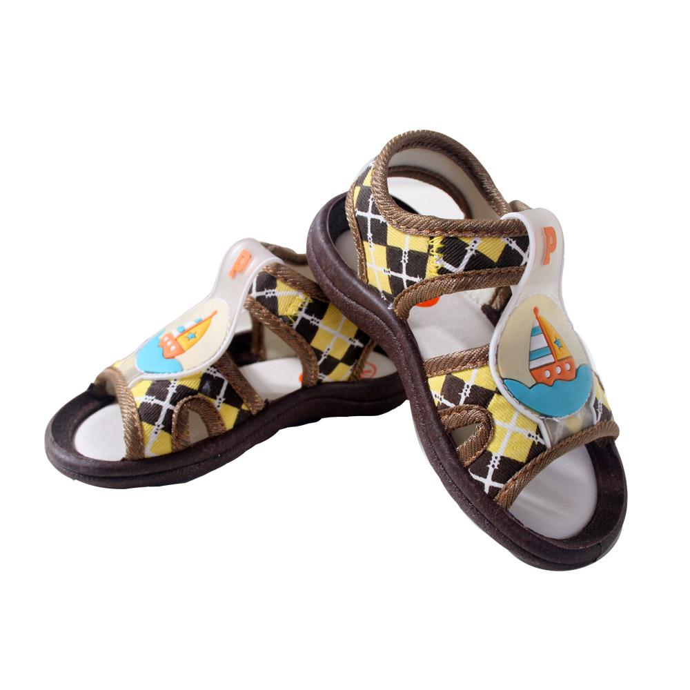魔法Baby 格紋帆船男童涼鞋 sh3782